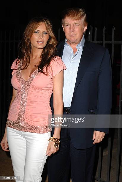 Donald Trump and Wife Melania Trump during US Weekly's Young Hollywood Hot 20 in Los Angeles California United States