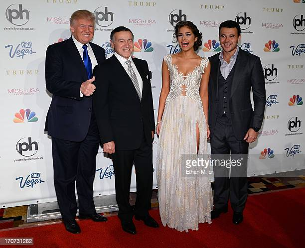 Donald Trump Aras Agalarov Miss Universe 2012 Olivia Culpo and Russian singer Emin Agalarov arrive at the 2013 Miss USA pageant at Planet Hollywood...