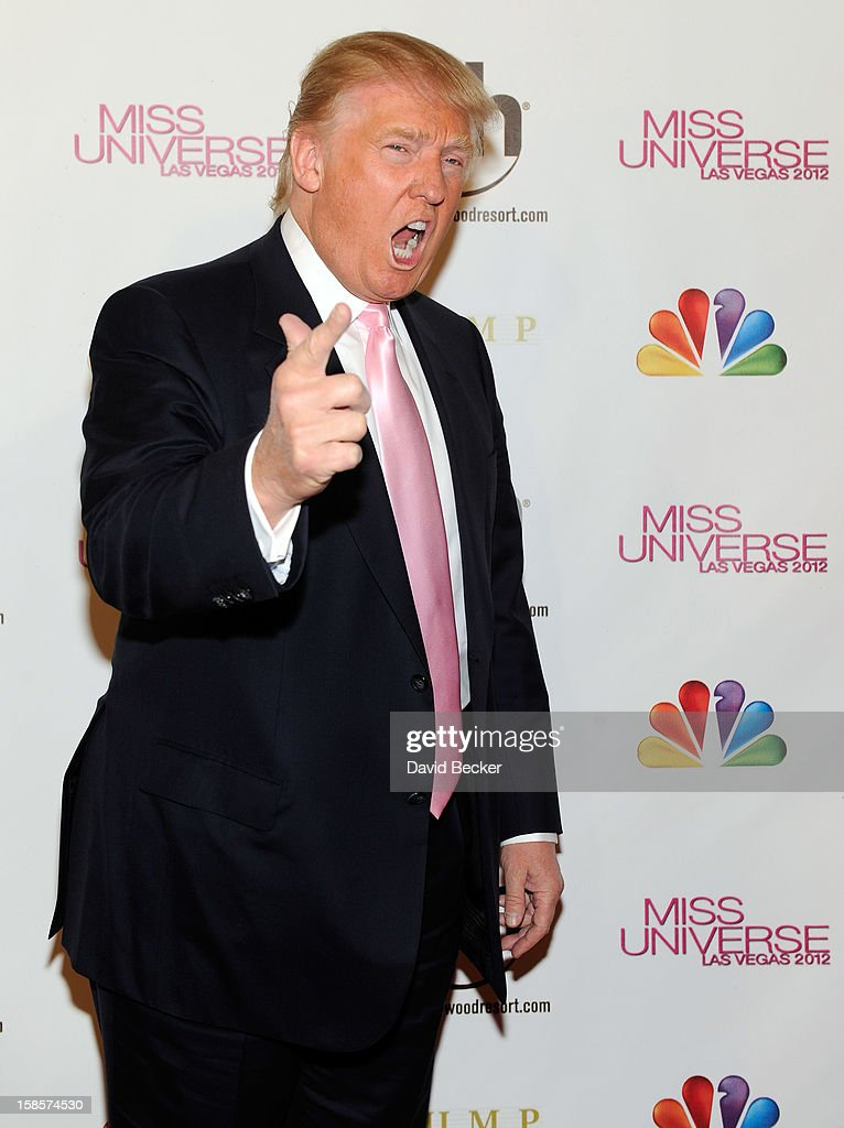 Donald Trump arrives at the 2012 Miss Universe Pageant at Planet Hollywood Resort & Casino on December 19, 2012 in Las Vegas, Nevada.
