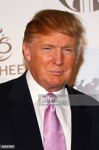 Donald Trump arrives at the Nakheel Introduces Trump International Hotel and Tower Dubai party featuring a performance by Christina Aguilera on...