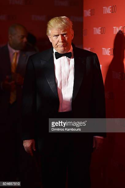 Donald Trump attends 2016 Time 100 Gala, Time's Most Influential People In The World red carpet at Jazz At Lincoln Center at the Times Warner Center...