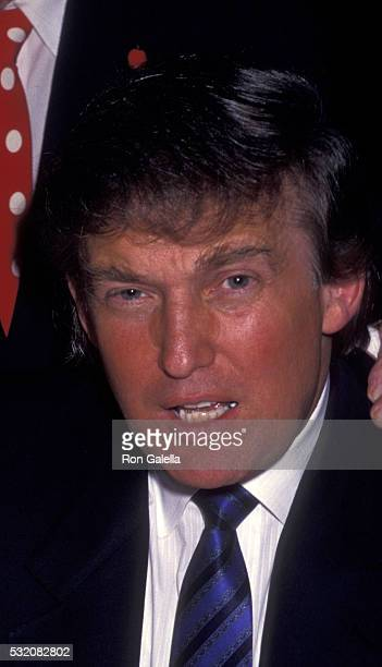 Donald Trump attends 80th Birthday Party for Joey Adams on 80th Birthday Party for Joey Adams on January 7 1991 at the Helmsley Hotel in New York City