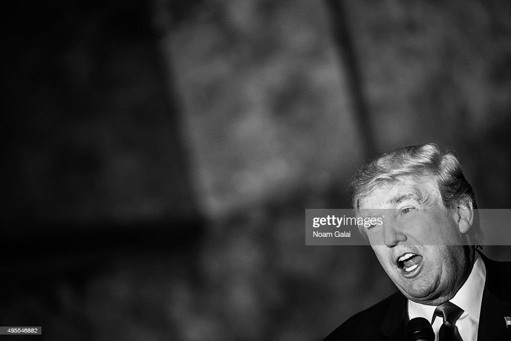 Donald Trump attends a press conference for the release of his new book 'Crippled America' at Trump Tower on November 3, 2015 in New York City.