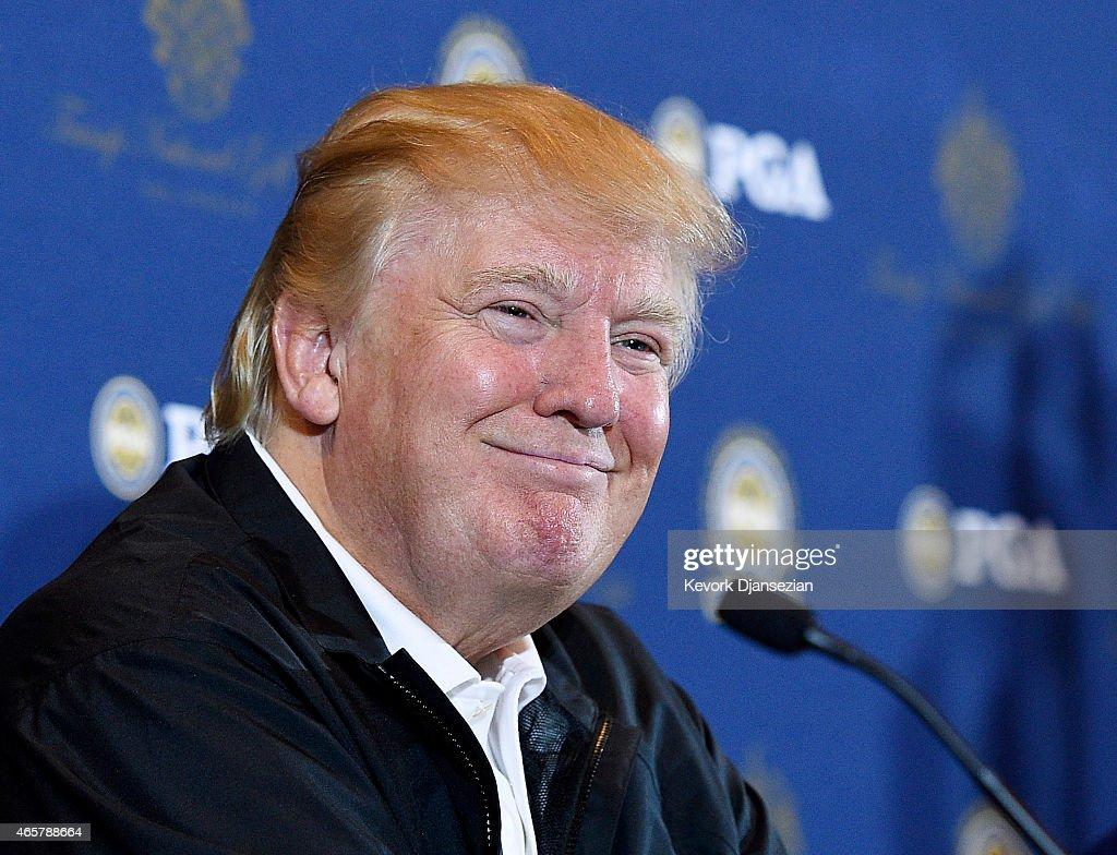 PGA Grand Slam of Golf Site Announcement at Trump LA : News Photo