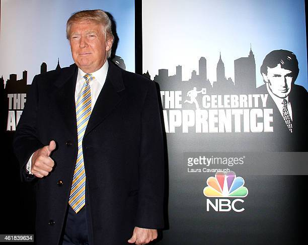 Donald Trump attends Celebrity Apprentice Red Carpet Event at Trump Tower on January 20 2015 in New York City