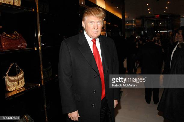 Donald Trump attends DONALD TRUMP Joins GUCCI for Ribbon Cutting of the FIFTH AVENUE FLAGSHIP GUCCI STORE at Gucci on February 8 2008 in New York City