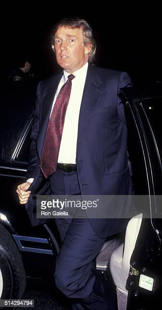 Donald Trump attends Harley-Davidson Cafe Grand Opening on October 19, 1993 in New York City.