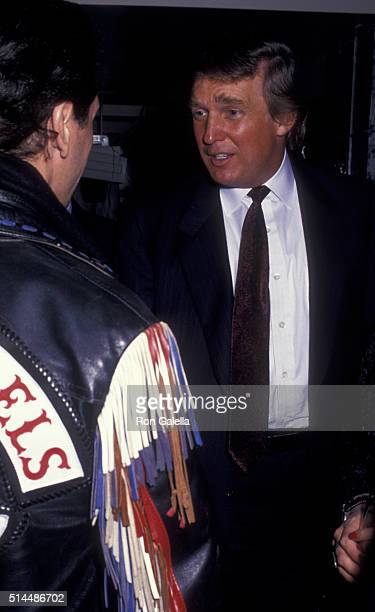 Donald Trump attends HarleyDavidson Cafe Grand Opening on October 19 1993 in New York City