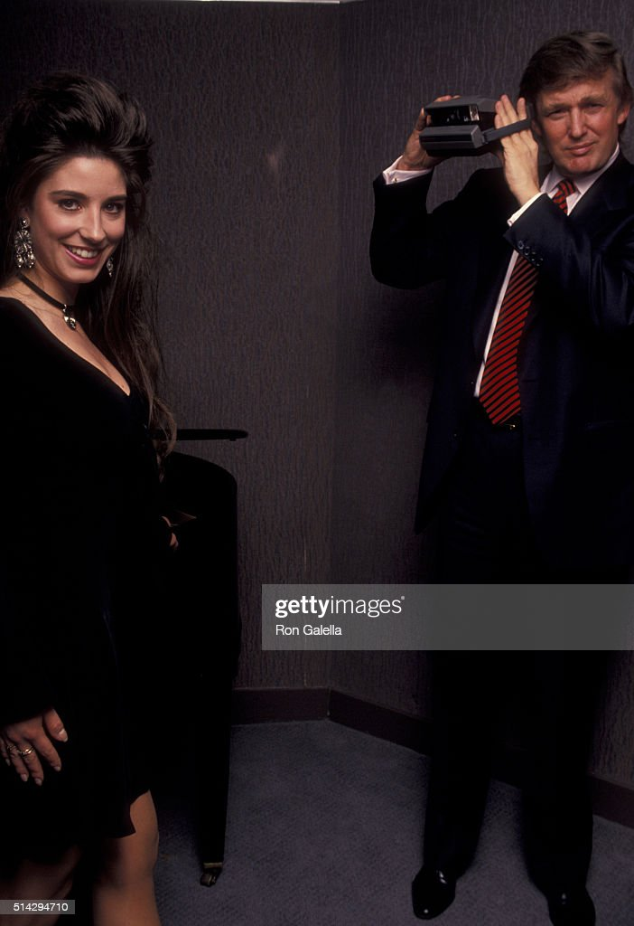 Donald Trump attends Playboy Magazine 40th Anniversary Press Party on May 3, 1993 at the Plaza Park Hyatt Hotel in New York City.