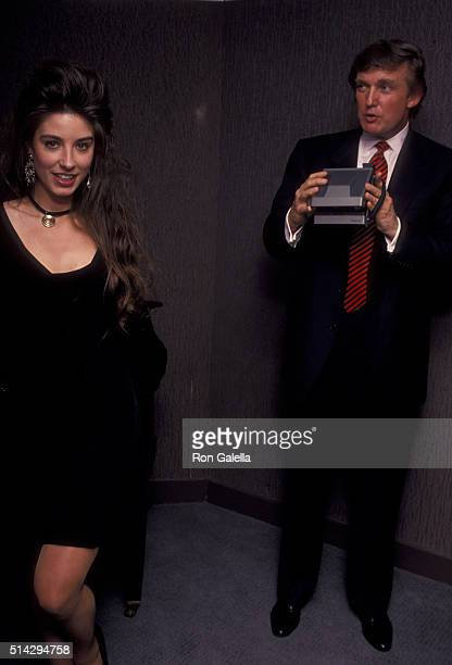 Donald Trump attends Playboy Magazine 40th Anniversary Press Party on May 3 1993 at the Plaza Park Hyatt Hotel in New York City