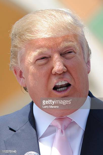 Donald Trump attends South Florida Tax Day Tea Party Rally on April 16 2011 in Boca Raton Florida