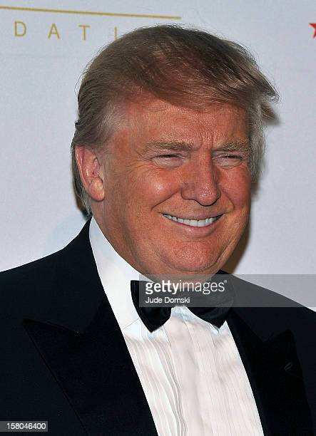 Donald Trump attends the 2012 European School Of Economics Foundation Vision And Reality Awards at Cipriani 42nd Street on December 5 2012 in New...