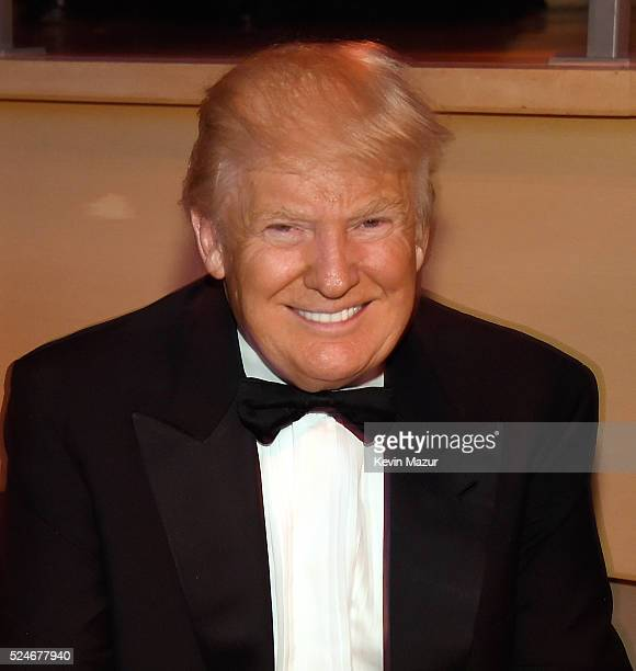 Donald Trump attends the 2016 Time 100 Gala Time's Most Influential People In The World at Jazz At Lincoln Center at the Time Warner Center on April...