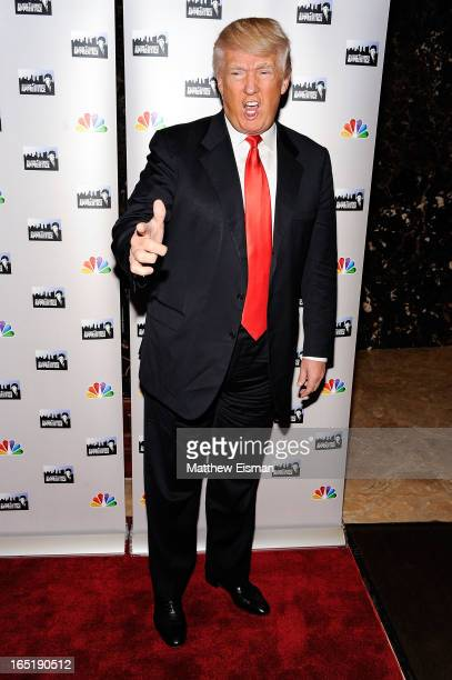 Donald Trump attends the 'AllStar Celebrity Apprentice' Red Carpet Event at Trump Tower on April 1 2013 in New York City