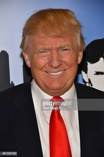 Donald Trump attends the 'Celebrity Apprentice' Red Carpet Event at Trump Tower on January 5 2015 in New York City
