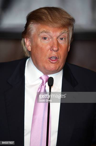 Donald Trump attends 'The Girls Of Hedsor Hall' press conference at Trump Tower on January 29 2009 in New York City