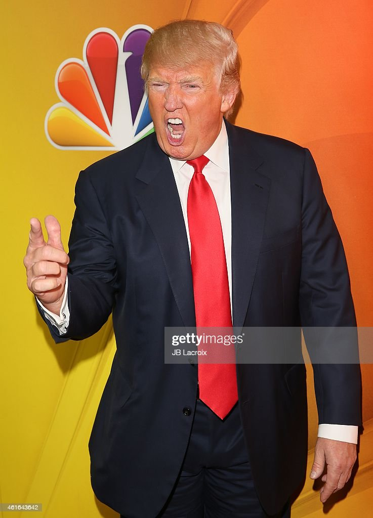 Donald Trump attends the NBCUniversal 2015 Press Tour at the Langham Huntington Hotel on January 16, 2015 in Pasadena, California.