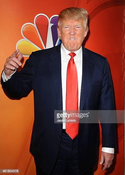 Donald Trump attends the NBCUniversal 2015 press tour at The Langham Huntington Hotel and Spa on January 16 2015 in Pasadena California