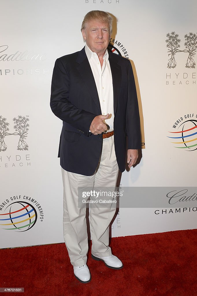 Donald Trump attends The Opening Drive Party at Hyde Beach on March 4, 2014 in Miami, Florida.