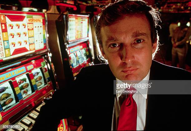 Donald Trump attends the opening of his new casino the Taj Mahal in Atlantic City New Jersey 1989 | Location Taj Mahal Casino Atlantic City New...