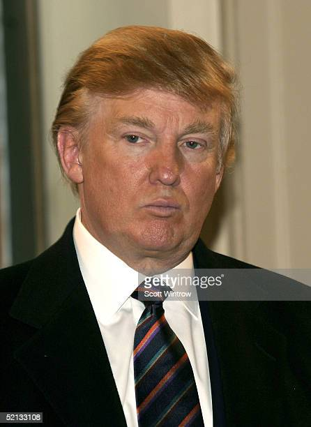 Donald Trump attends the recruitment drive for NBC's new 'Apprentice' on February 4 2005 New York City
