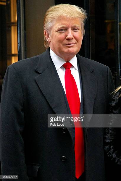 Donald Trump attends the ribbon cutting for the new flagship store at Trump Tower on February 8 2008 in New York City