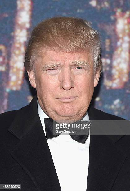 Donald Trump attends the SNL 40th Anniversary Celebration at Rockefeller Plaza on February 15 2015 in New York City