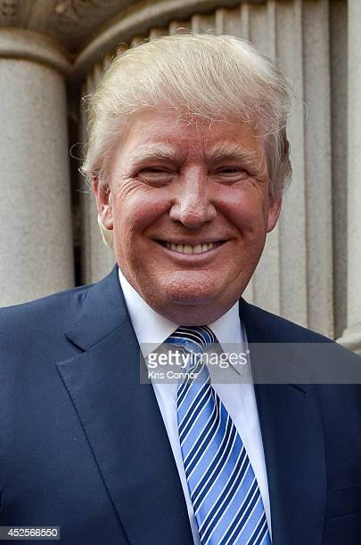 Donald Trump attends the Trump International Hotel Washington DC Groundbreaking Ceremony at Old Post Office on July 23 2014 in Washington DC