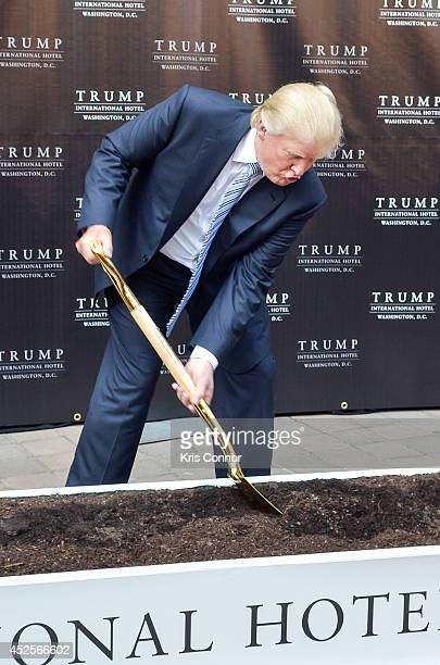 Donald Trump attends the Trump International Hotel Washington, D.C Groundbreaking Ceremony at Old Post Office on July 23, 2014 in Washington, DC.
