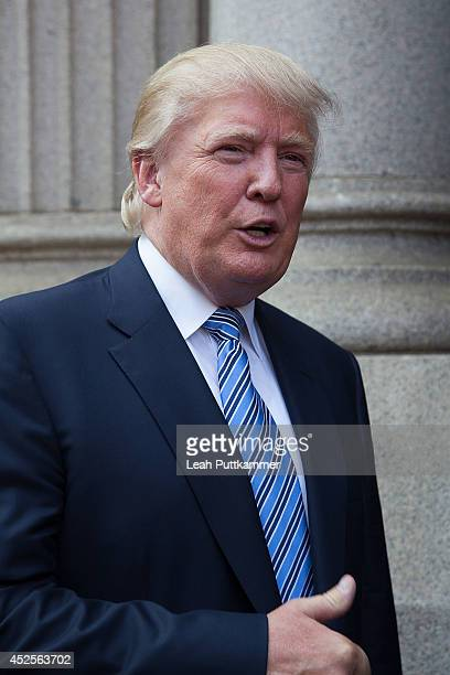Donald Trump attends the Trump International Hotel Washington, D.C Groundbreaking Ceremony on July 23, 2014 in Washington, DC.
