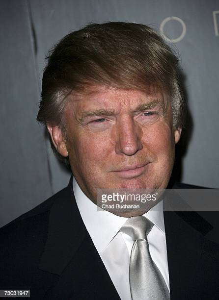 Donald Trump attends Trump Vodka launch party at Les Deux on January 17, 2007 in Los Angeles, California.
