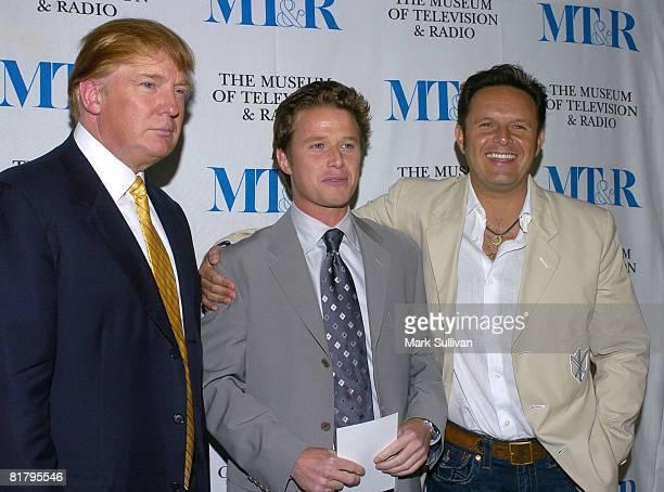 Donald Trump Billy Bush and Mark Burnett
