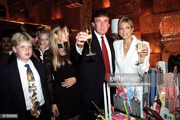 Donald Trump celebrates birthday with family Eric Tiffany Ivanka Donald and Marla