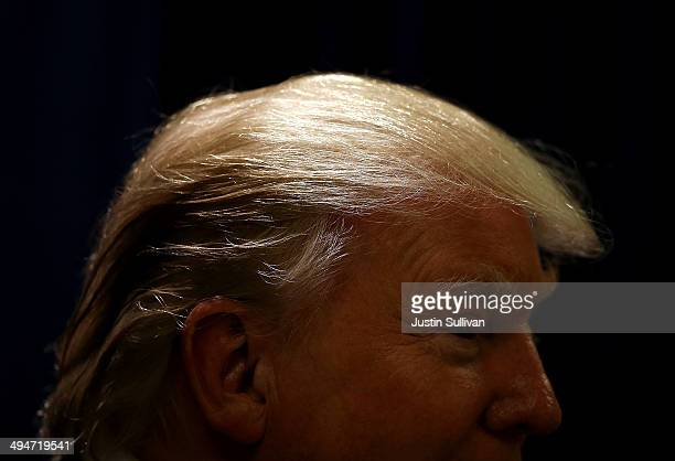 Donald Trump chairman and president of the Trump Organization and the founder of Trump Entertainment Resorts speaks at a press conference on day two...