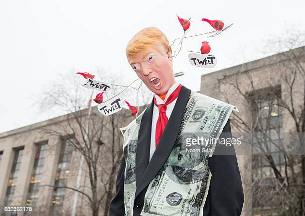 Donald Trump doll is seen during the Women's March on Washington on January 21 2017 in Washington DC