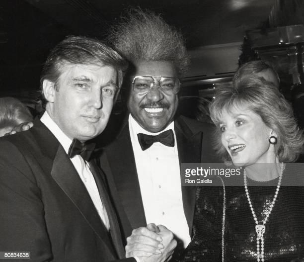 Donald Trump, Don King and Barbara Walters