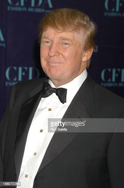 Donald Trump during 2004 CFDA Fashion Awards Arrivals at New York Public Library in New York City New York United States