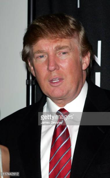 Donald Trump during 'Apprentice II' Fashion Episode Viewing Party Hosted by Gen Art and Trump Model Management at Pressure in New York City New York...