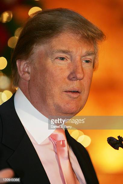 Donald Trump during Donald Trump Announces In Touch Weekly Million Dollar Winner at Trump Towers in New York City New York United States