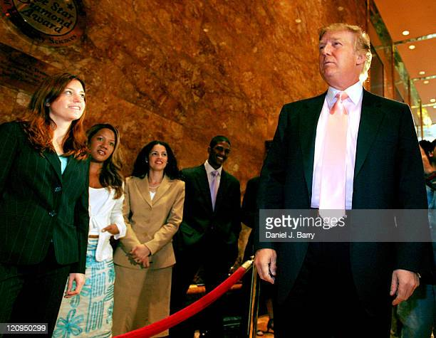Donald Trump during Donald Trump Interviews Candidates for NBC's 'The Apprentice' Season Five at Trump Tower in New York City New York United States