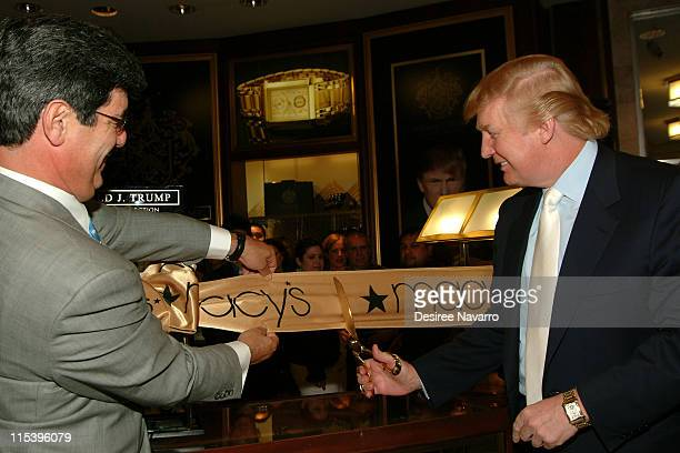 Donald Trump during Donald Trump Launches His New Signature Watch Collection at Macy's Herald Square in New York City New York United States