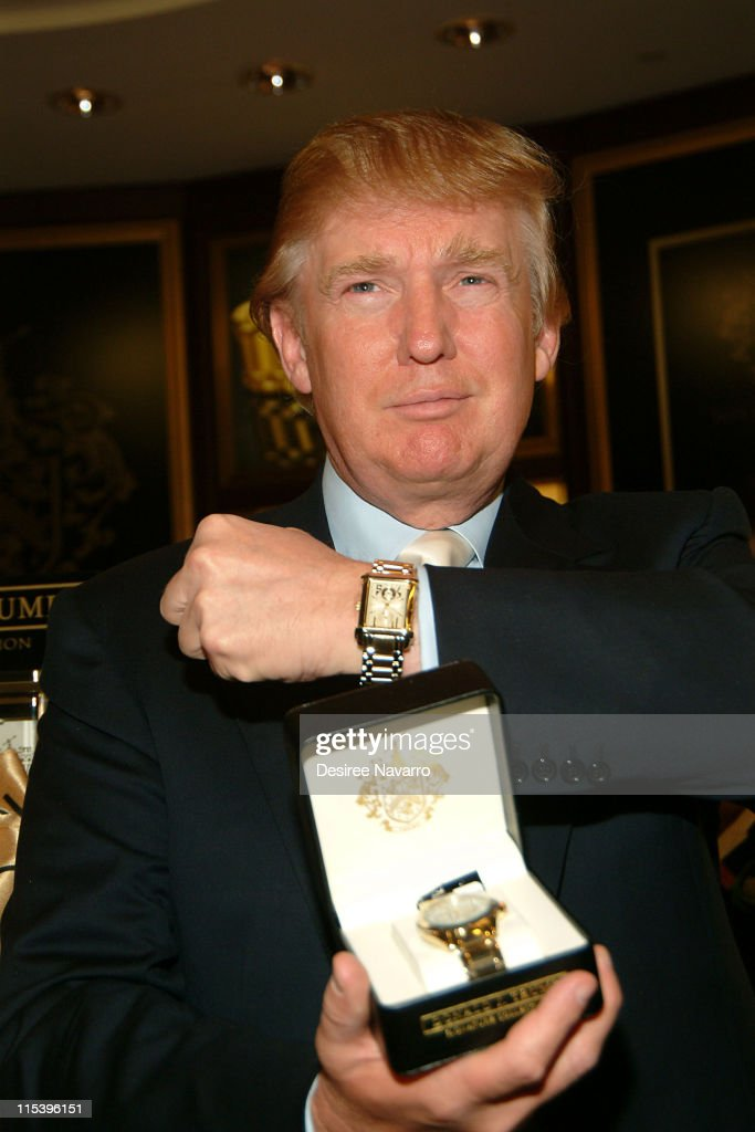 Donald Trump during Donald Trump Launches His New Signature Watch Collection at Macy's Herald Square in New York City, New York, United States.