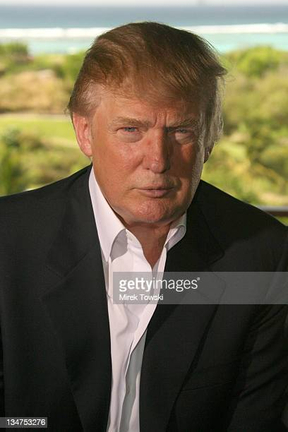 Donald Trump during Donald Trump Million Dollar Invitational 54 Hole Golf Tournament Day 4 at Raffles Resort in Canouan Island Saint Vincent and The...