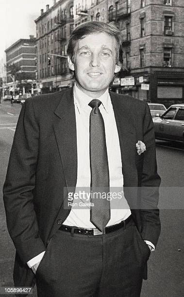 Donald Trump during Party Honoring Ilie Nastase and Alexandra King Engagement at Amsterdam's Restaurant in New York City New York United States