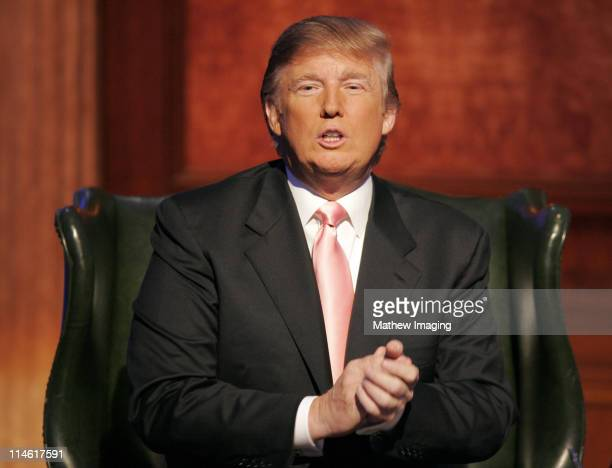 Donald Trump during The Apprentice Season 6 Finale at The Hollywood Bowl at Hollywood Bowl in Hollywood California United States