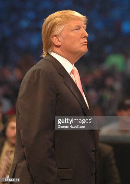 Donald Trump during Wrestlemania 23 at Ford Field in Detroit Michigan United States