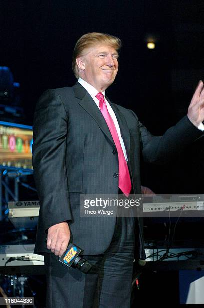 Donald Trump during Z100's Zootopia 2004 Show at Madison Square Garden in New York City New York United States
