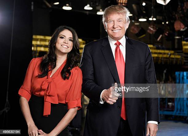 "Donald Trump"" Episode 1687 -- Pictured: Cecily Strong, Donald Trump on November 3, 2015 --"