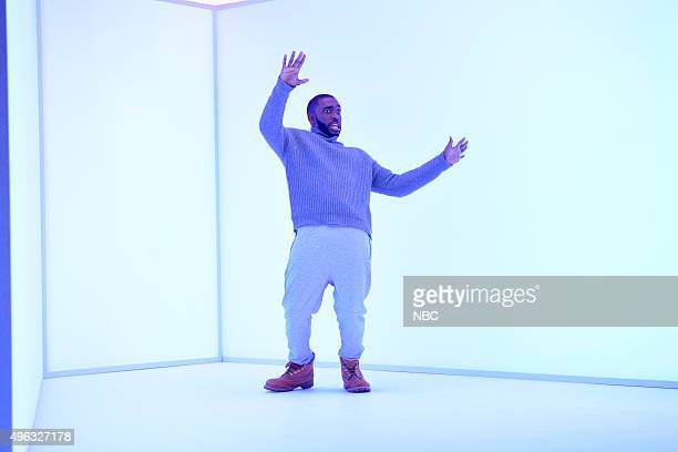 LIVE 'Donald Trump' Episode 1687 Pictured Jay Pharoah as Drake during the 'Hotline Bling Parody' sketch on November 7 2015