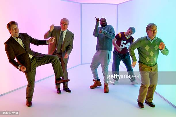 LIVE Donald Trump Episode 1687 Pictured Taran Killam Donald Trump Jay Pharoah as Drake Bobby Moynihan and Beck Bennett during the Hotline Bling...